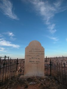 Afghan grave stone in Marree Cemetery